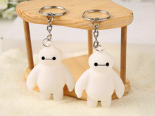 1 Pcs Big Hero 6 Key chain Toy Fat Balloon Man Doll dolls Baymax Toys Action Figure Kids Gifts White hot