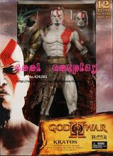 7inch Brand New God Of War 2 II Game Action Figure Toys Kratos With Flaming Blades PVC Action Figure Model Toy For Gift Boxed