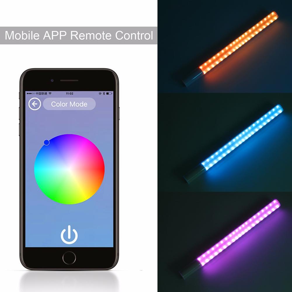 YONGNUO-YN360-II-Pro-RGB-Colorful-LED-Bi-Color-Ice-Video-Handheld-Light-5200mAh-Battery-Support