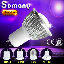 Dimmable Lampara Lamp GU10 GU5.3 E27 110V 220V Led Light MR16 12V Spot Lamp Bombilla Luz Aluminum Cooling COB Led Spotlight Bulb