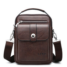 Retro Style Men s PU Business Travel Messenger Bag A Variety Of Styles  Solid Color Simple And Versatile Shoulder Bag Hot Sale d1f6590122b28