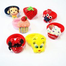 Free Shipping 10 Pcs(5 Pairs) Cartoon Candy Color Elastic Hair ties Ropes Hair holder For Girls' Sweet Hair Accessories