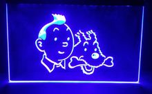 B-276 Tintin and Snowy Adventures Comic NEW beer bar pub club 3d signs LED Neon Light Sign  home decor crafts