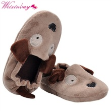 Children Baby Girls Boys home Slippers 2017 Animal Style Khaki Cotton Indoor Sneakers Home Living shoes Stock England Footwear(China)
