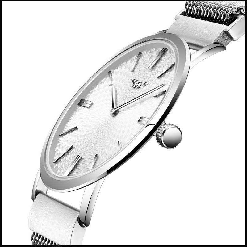 Mens Watches Top Brand Luxury GUANQIN Men Ultra Thin Wristwatch Stainless steel Quartz Watch men relogio masculino<br><br>Aliexpress