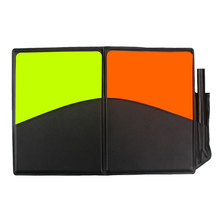 Soccer Football Referee Judge Card Red Yellow Cards Plastic with Wallet Case Pencil Recording Paper Professional for Match Game