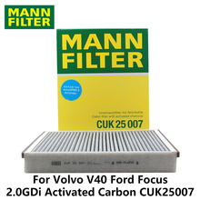 MANN FILTER Car Cabin Filter For Volvo V40 2.0 Ford Focus 1.6 2.0GDi Activated Carbon CUK25007(China)