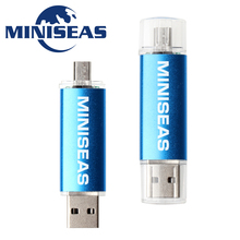Miniseas  Fashion Metal otg Usb 2.0 Cle Usb 4/8/16/32/64 gb Usb Flash Drive Full Capacity Pendrive usb memory stick gift