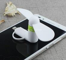 Best Price New Gadget 2 in 1 Mini Portable Micro USB Fans for iPhone For Samsung Android Phones