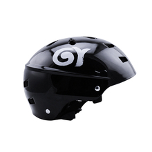 Black ABS Skating Helmet In-mold Half-covered EPS Liner Skate Ski Helmet Bicycle Helmet