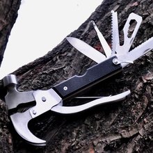 Multi Function Claw Hammer Safety Tools High Quality Tool Pliers Broken Window Axe and Life Axe Camping Tools(China)