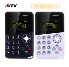 10 Pcs/lot AIEK/AEKU M8 Mini Card Phone Low Radiation Bluetooth Message Color Screen Childrens Pocket Cell Phones PK AIEK M5 X6(China)