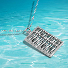 China Wind exquisite small abacus pendant necklace,2014 brand new 925 sterling silver necklace
