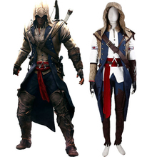 Assassin's Creed III Connor Render Cosplay Costume Premium Deluxe Edition Halloween Men's Costumes Custom Size Express Shipping(China)