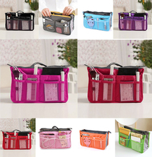 Korean Hot storage bag  cosmetic bag wash bag multifunction consolidation double zipper storage bags  free shipping  N658