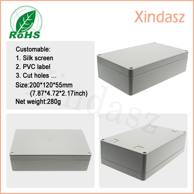 200*120*55mm plastic box enclosure electronic plastic waterproof enclosures, plastic box enclosure electronic shenzhen<br><br>Aliexpress