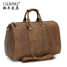 High Quality! Hot Sale! Cattle 2012 fashion vintage handmade crazy horse leather suitcase travel bag male luggage 3037