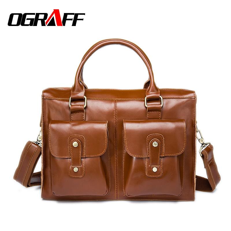OGRAFF Men bag genuine leather men messenger bag famous brand handbags briefcases men crossbody bags 2017 business bag men<br><br>Aliexpress
