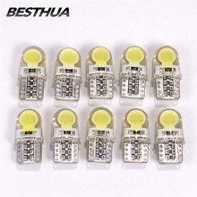 10Pcs T10 LED W5W LED Bulbs White 194 168 LED Lamp 501 COB Silicone shell wide Car LED Lights Super Bright Turn Side Lamp 12V(China)