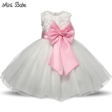 Flower Girl Dresses for Wedding Pageant White First Holy Lace Communion Dress for Girls Toddler Junior Child Dress(China)