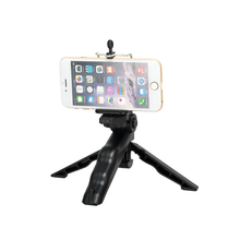 "Mini Tripod Table Stand w/ Tilt Head Foldable Handheld Grip with 1/4"" Screw for GoPro Xiao mi Yi Sj5000 Sport Camera Camcorder(China)"
