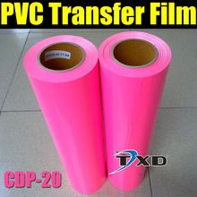 Colorful PVC heat transfer film for garment pink color by free shipping CDP-20 PINK