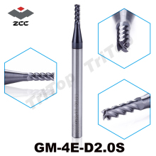 5pcs/lot free shipping ZCC GM-4E-D2.0S Cemented Carbide 4 flute 2mm flattened end mills with straight shank cnc milling cutter(China)