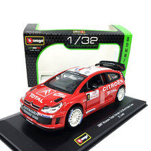 Bburago 1:32 2007 Kronos Total Citroen C4 World Rally Team Racing #1 S.Loeb die-cast model car
