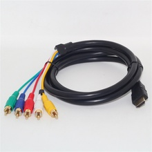 hot selling New 5ft Full HD 1080P HDMI Male to 5 RCA RGB Audio Video AV Component Cable good sale(China)