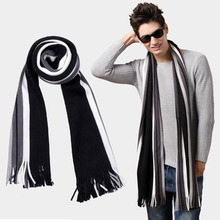 winter bussiess tassel scarf men luxury brand striped faux cashmere scarves pashmina shawl,foulard echarpe hiver homme capes