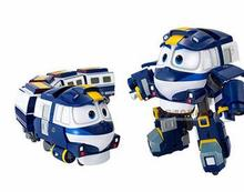 2016 South Korea dynamic train family trains robot dynamic train suit toy for children gift(China)