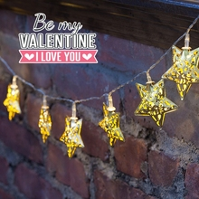 New hollow out the stars modelling, wrought iron LED Christmas decoration, outdoor wedding holiday lights flashing the bedroom