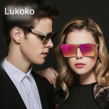 Lukoko Couple UV400 Cool Mens Sunglasses Brand Designer Black Shades Luxury Reyban Ulo Man Sun Glasses Male For Men 2016 Things(China)