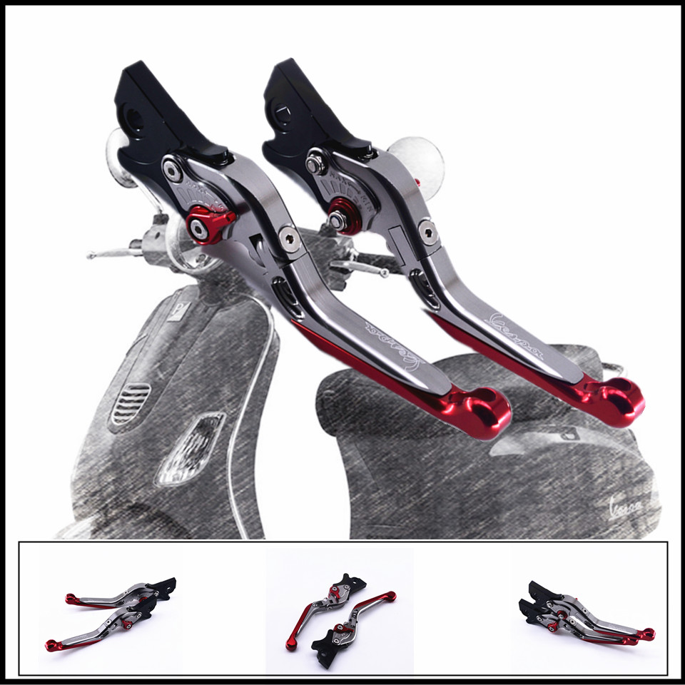 CNC Folding&amp;Extending Brake Clutch Levers For Vespa Granturismo 125/200 GTS 125/250 S125/150/300 Super <br>