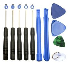 1 set of 11 mobile repair opening tool plastic+metal portable disassembling tools for iPhone and android phones(China)