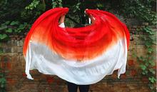 Free Shipping Womens Belly Dance Shawl Silk Veil Scarf Gradient Color For Belly Dancing White Red Purple Yellow Black Pink Cheap