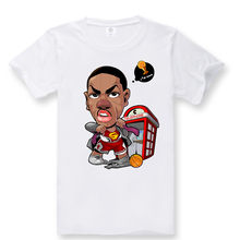 2016 design brand Derrick Rose Basketball Summer Men's Cotton Short Sleeve T-shirt Fashion Casual Tee shirt 3D digital AW1267