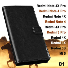 Xiaomi Redmi 4x 3x 3s case leather Crazy horse case for Xiaomi Redmi 3x 3 s 3 Pro case Royal Mi5 Mi 5 Xiaomi redmi note 4x 4 x 3