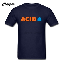 XS-3XL Men T Shirts Acid House Music Quote 100% Cotton Tops Men's Short Sleeve Big Size T-shirts For Men New Tees Cheap Clothing(China)