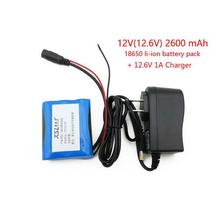 12 V 2600 mAh 18650 Li-ion Rechargeable battery Pack for CCTV Camera + 12.6V 1 A Charger Free shopping
