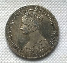 United Kingdom 1 Crown - Victoria COIN COPY FREE SHIPPING