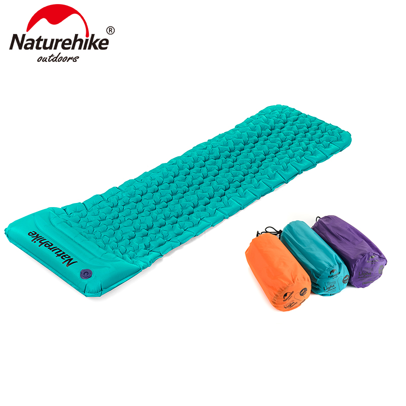 Naturehike Inflatable TPU Moisture-proof Pad With Pillow Ultralight Portable Air Mattress NH17T024-T<br>