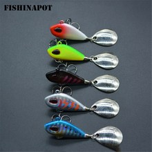 Buy FISHINAPOT 1PCS 6g/10g/17g/25g Metal VIB Fishing Lure Spinner Sinking Rotating Spoon Pin Crankbait Sequins Baits Fishing Tackle for $1.28 in AliExpress store