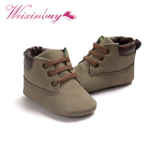 WEIXINBUY Infant Toddler Soft Soled Boots 5 Colors Kids Boys Classic Handsome First Walkers Baby Shoes(China)