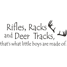 Rifles Racks And Deer Tracks Quote Wall Art Sticker Wall Decal Home DIY Decoration Wall Mural Removable Room Decor Wall Stickers(China)