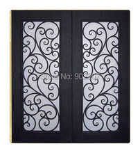 Custom design U.S wrought iron entry door id16
