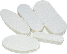 BIUTF 200 PCS Eco-friendly White Oval Felt Fabric Pads Accessory Patches Circle Felt Pads Fabric Flower Accessories Freeshipping(China)