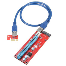 Hot 5pcs Extender Cable USB3.0 Converter SATA PCI Express PCI-E 1X to 16X Riser Card Power Supply Cable 60CM For Mining
