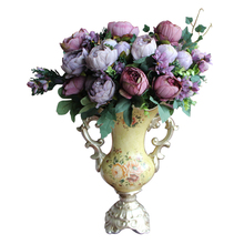 Elegant Practical Artificial Fake Peony Silk Flowers Bridal Hydrangea Wedding Party Decor DIY Purple