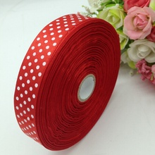 HL 1 roll (50yards) 18mm width printed dots satin ribbon wedding party decoration crafts making ribbon bows DIY accessories A938